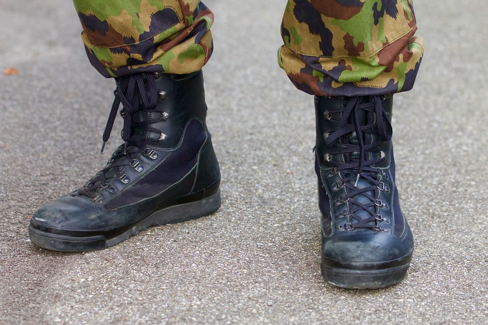 military boot image