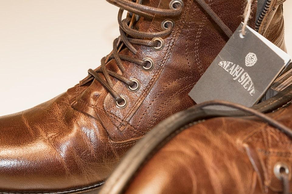 polished leather boots image