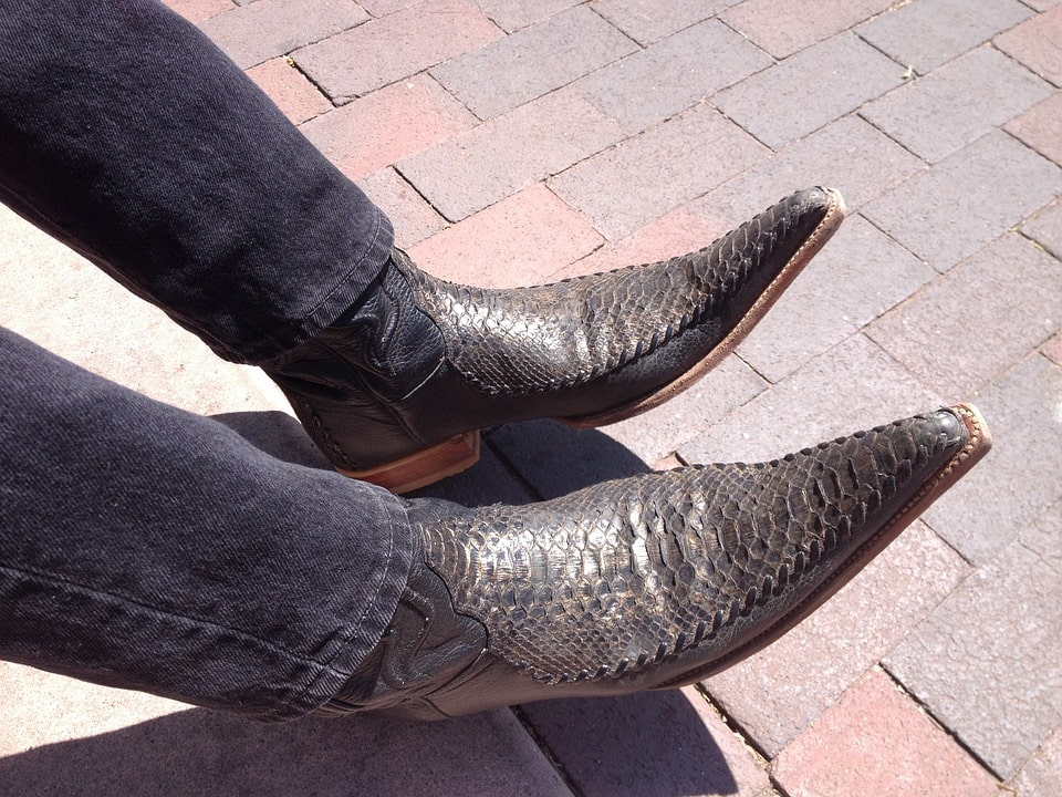 shiny leather boot image