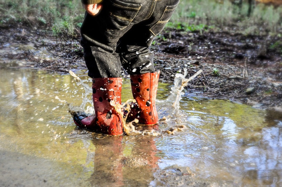 wet boots image