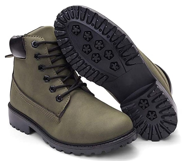 DADAWEN Lace Up Ankle Bootie image