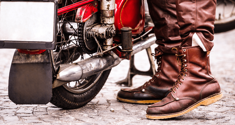 motorcycle boots for walking image